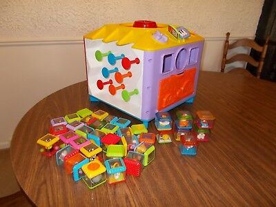 Fisher Price INCREDIBLOCK  Activity Center Cube 36 Peek-A-Boo Blocks 7 SPECIAL