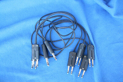 """Four ADC BK32 Patch Bay Cables 36"""" Long. Hardly Used."""