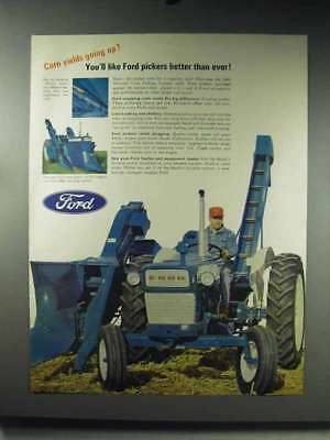 1966 Ford Tractor, Corn Picker Ad - Yields Going Up