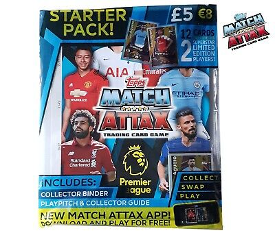 Topps Match Attax Trading Card Game Premier League 2018/2019 Starter Pack New