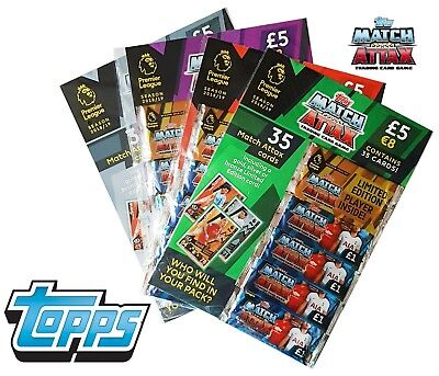 TOPPS MATCH ATTAX TRADING CARD GAME PREMIER LEAGUE 2018/2019 35 cards MUST HAVE