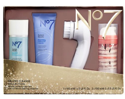 No7 Deluxe Cleanse Collection  Cleansing Brush Kit Gift Set Christmas