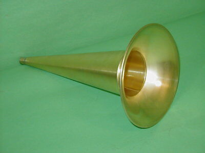 "Edison Columbia Cylinder Phonograph Horn all Brass 14"" Standard Home  Triumph AT"