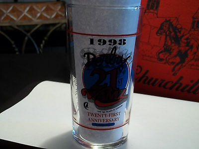 1998 Kentucky Derby Jim Beam WAMZ Radio 21st Ann. 9th Edition Mint Julep Glass