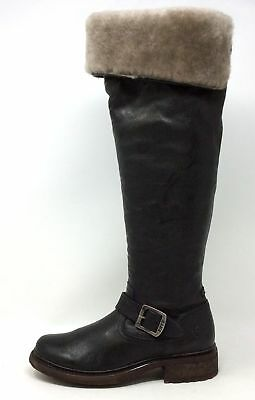 3c5f38286f6 NEW! FRYE VALERIE Shearling OTK Over The Knee Riding Buckle Boots ...