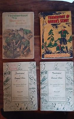 Vtg 1950s Canada boy scout manuals tenderfoot queens scout tenderpad second star