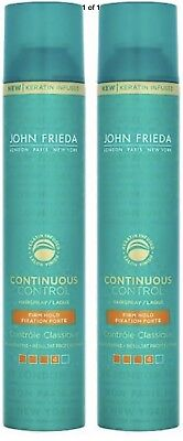John Frieda CONTINUOUS FIRM HOLD HAIRSPRAY (pack of 2) Large 400ml each