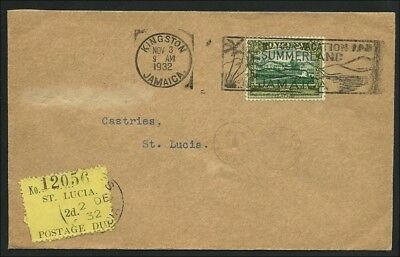 (25740) St Lucia 1932, Cover from Jamaika to St Lucia