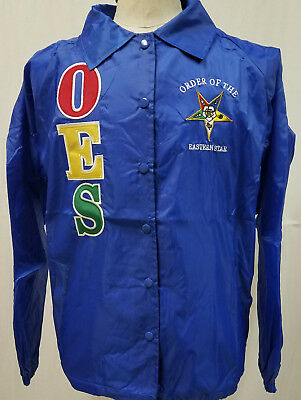 Order of the Eastern Star OES Line Jacket-Blue- Size XL-New!