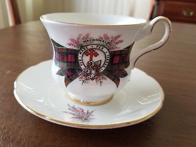 Royal Grafton Fine Bone China MacDonald Tea Coffee Cup & Saucer Made England