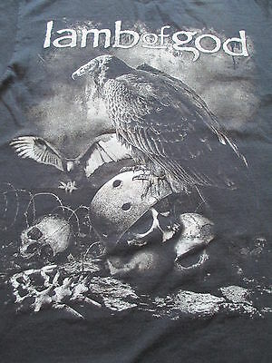 Lamb of God Black White Eagle Skull T Shirt Size M Medium L Large