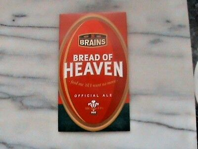 Brains Bread Of Heaven real ale beer pump clip sign Rugby Theme
