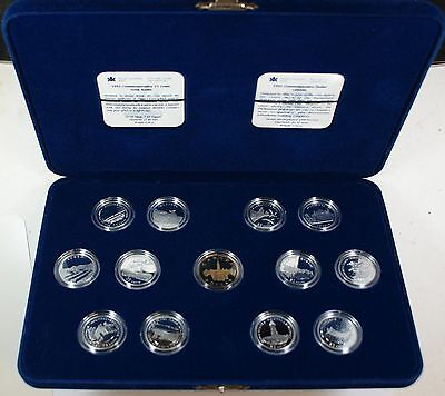 1992 Canada Silver Proof 25 cents coin set of 12 pcs+ $1.00 Loon with case & COA