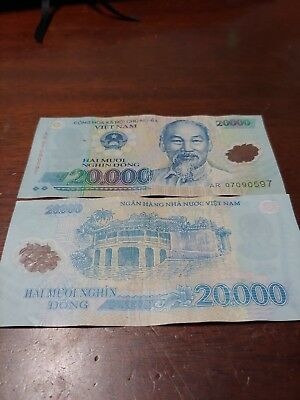 Vietnamese Dong Vietnam 20 000 Note Bill Best Price On Ebay