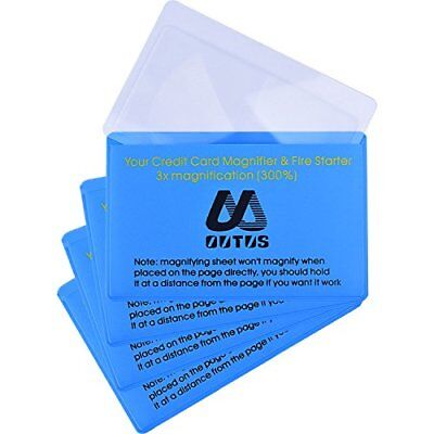 Outus 4 Pack Plastic Reading Magnifier Lens Credit Card Size Magnifier Wallet %