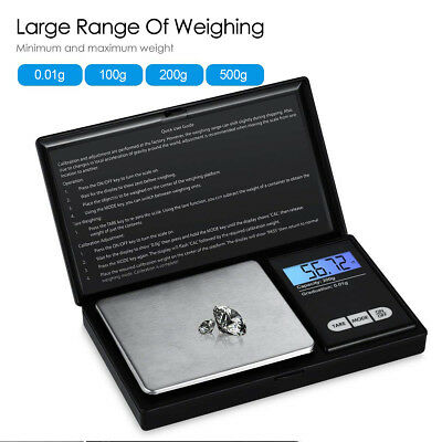 Electronic Pocket Mini Digital Gold Jewellery Weighing Scales 0.01G to 500 Grams