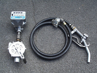GPI Manual Diesel Fuel Transfer Pump Hose / Nozzle MD-130 Fuel Meter MADE IN USA