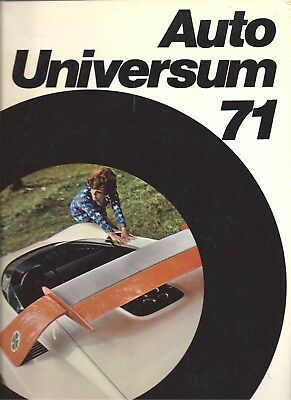 Auto Universum 1971, New Car Directory for the world