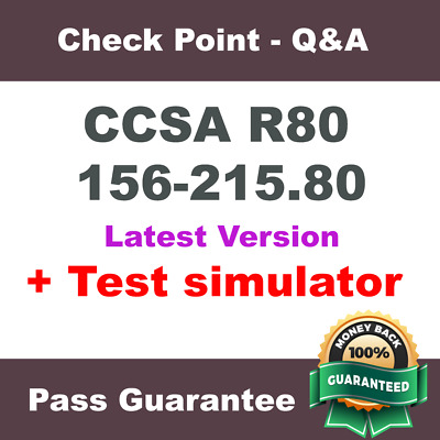 Checkpoint 156-215.80 CCSA R80 Check Point Exam Dump Test PDF + VCE SIM (2018)