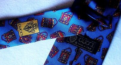CRAVATTA UOMO (TIE)  vintage 70's GUCCI made in Italy  New!  rare