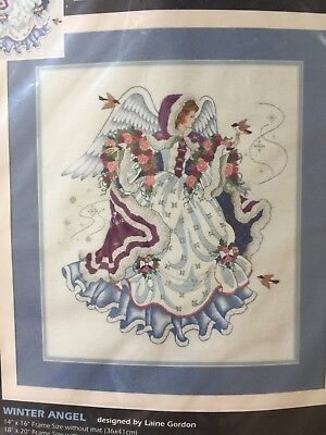 Sealed Dimensions Winter Angel Crewel Embroidery Kit 1476 Laine Gordon