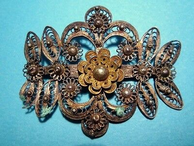 BEAUTIFUL POST MEDIEVAL 19th. CENTURY FILIGREE BROOCH!!!