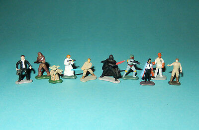 STAR WARS Micro Machines - 10 CLASSIC CHARACTERS figures lot - HanSolo BobaFett