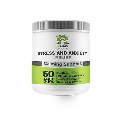 ZPAW Anxiety and Stress Relief Calming Treats for Dogs by Anxiety Medicine for