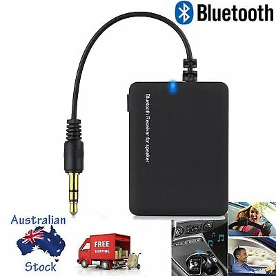 Wireless Bluetooth Audio Stereo Music Home Car Receiver 3.5mm AUX Dongle NEW AU