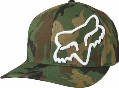 Fox Racing Mens Clouded Camo Greens FlexFit Hat Baseball Cap S/M L/XL