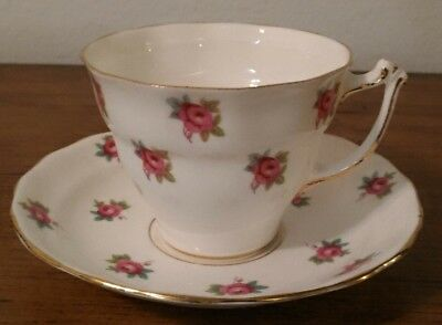 Sampson Smith Old Royal Bone China Cup And Saucer England ROSE