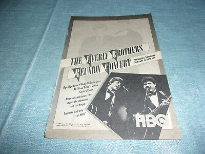 The Everly Brothers Reunion concert HBO  tv guide ad clipping #FP