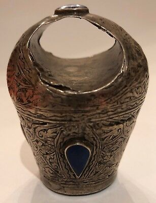 Antique Persian / Chinese Lapis Lazuli and Sterling Silver Seal Ring