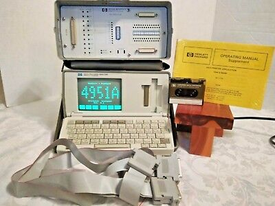 Hp 4951A Protocol Analyzer W/18179A Interface, Manual,cables,tape Works
