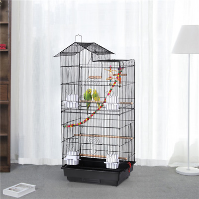 39''H Roof Top Large Bird Cage Parrot Cockatiel Conure Parakeet Bird Cage