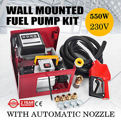 230V  Transfer Fuel Pump Kit With Automatic Nozzle Metering 550W 2800R/M