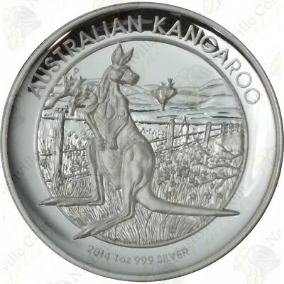 2014 Australia $1 High Relief 1 oz .999 fine silver Kangaroo (Proof) -- SKU #...