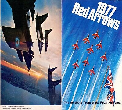 Original 1977 Official RAF Red Arrows Promotion Leaflet