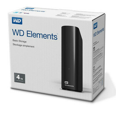 Western Digital WD Elements Desktop 4TB externe Festplatte mit USB 3.0 in OVP !!