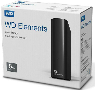 Western Digital WD Elements Desktop 5TB externe Festplatte mit USB 3.0 in OVP !!