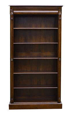 Bookcase  Open  Five Shelf and Recessed Drawer Versailles Adjustable shelves