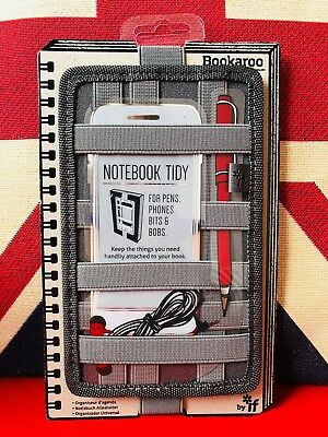 Bookaroo Notebook Tidy - Charcoal. For Pens, Phones, Bits and Bobs. Gift, New