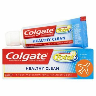 2x Colgate Total Healthy Clean Travel Size Toothpaste 25ml