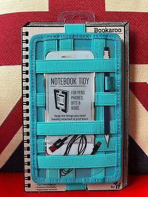 Bookaroo Notebook Tidy - Turquoise. For Pens, Phones, Bits and Bobs. Gift, New