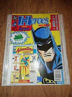 * HEROES * 1ST ISSUE COLLECTOR'S ITEM COMIC inc 2 FREE POSTCARDS 1991 RARE!