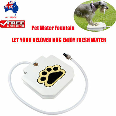 Step Spray Dog Pet Paw Pedal Water Fountain Drinking Feeder Upgrate Outdoor