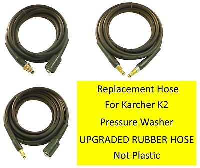 Karcher K2 Hose 100% RUBBER Pressure Washer Replacement HOSE choose your style