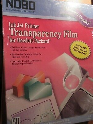 Nobo Ink Jet  Transparency Film 50/Pack free post