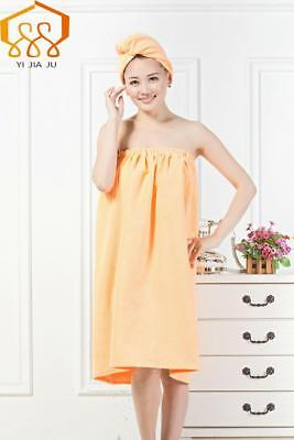 ceb3bc7a81 Bath Towel Shower Spa Wrap Women Terry Robe S Body Womens Cotton Bow Cover  Cap