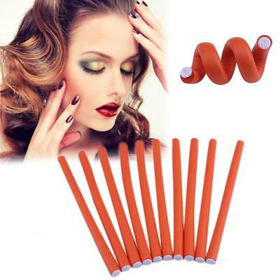 Hair Rubber Roller Rollers Band Rods Curler Curling Wave Curl Cold Wavy Perms 10